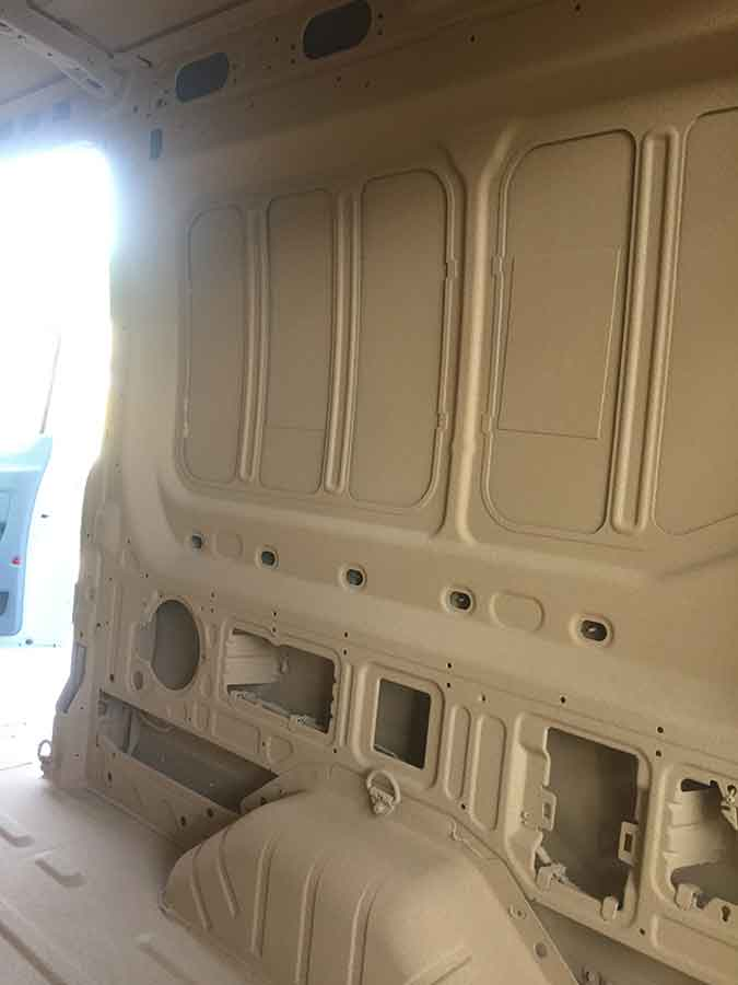 Work Van Interior- Clarion™ Bed Liner - Phoenix Protective Coating