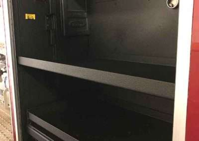 Fire Truck Side Hatch 2 - Guardian™ Bed Liner - Phoenix Protective Coatings