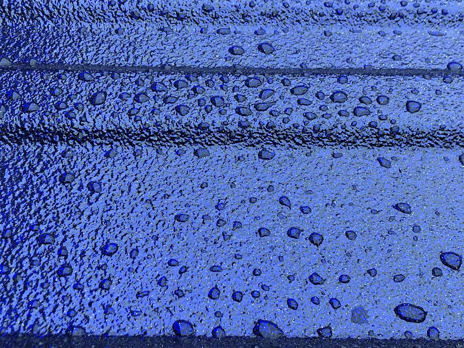 Chroma, metallic bedliner, blue
